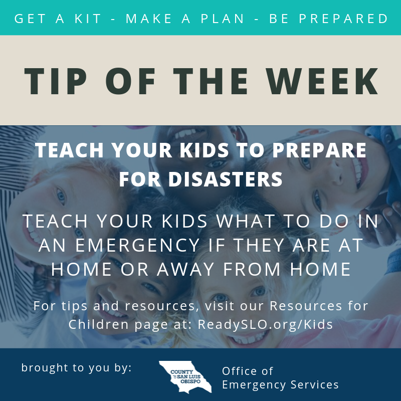 Teach youth to prepare Tip of the Week