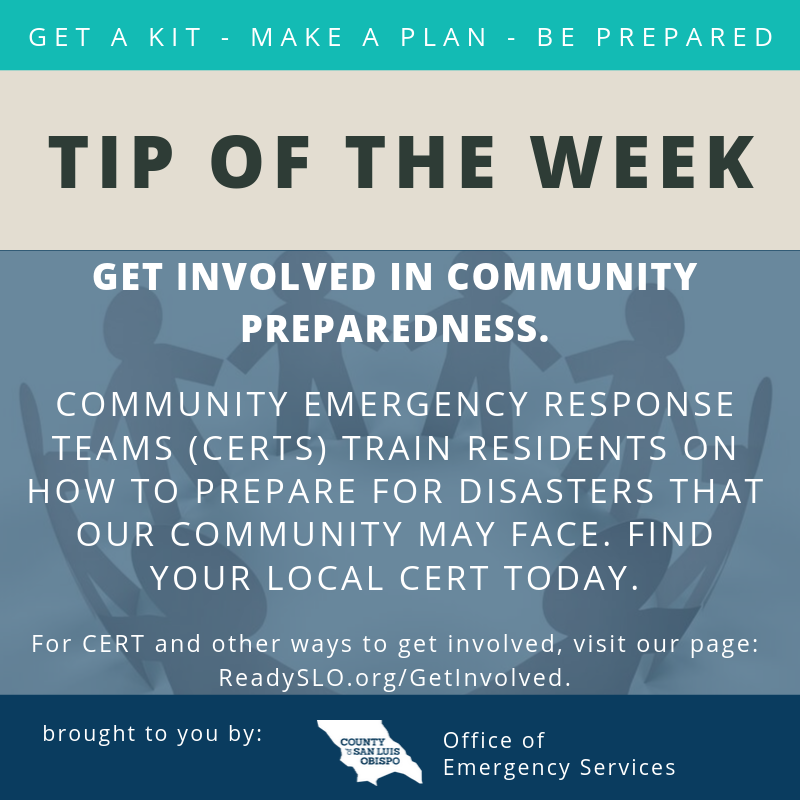 Get involved Tip of the Week