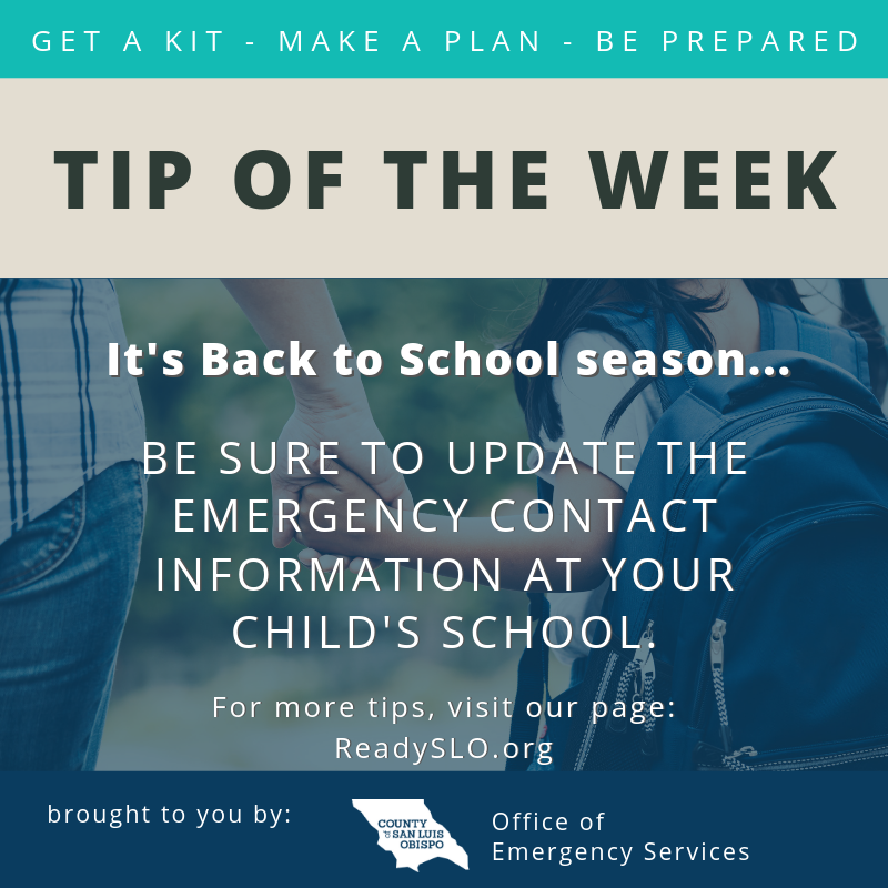 Back to School Tip of the Week