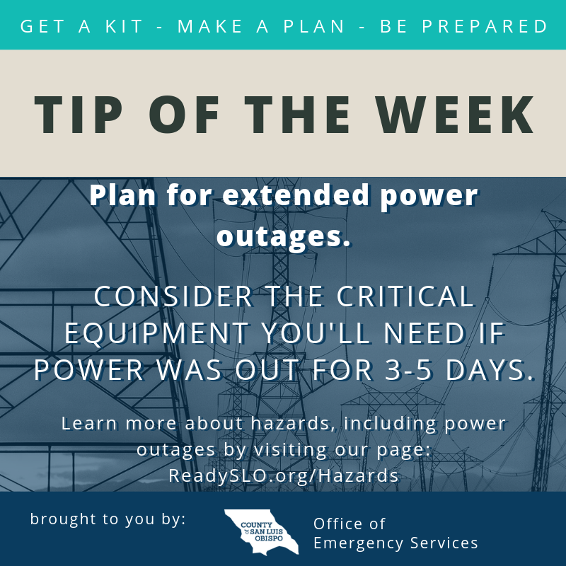 Power Outage Tip of the Week
