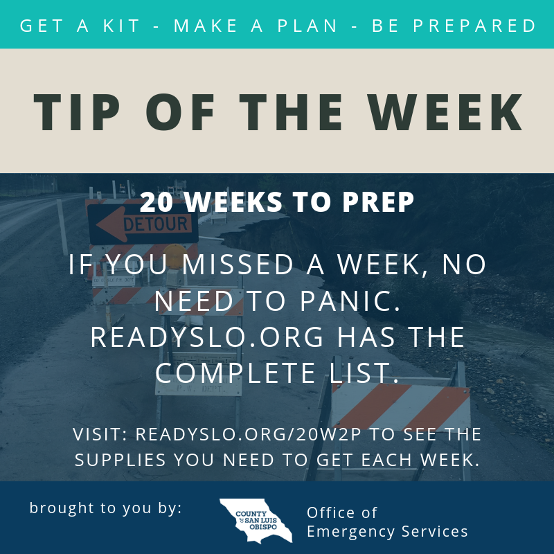 20 Weeks to Prep Tip of the Week
