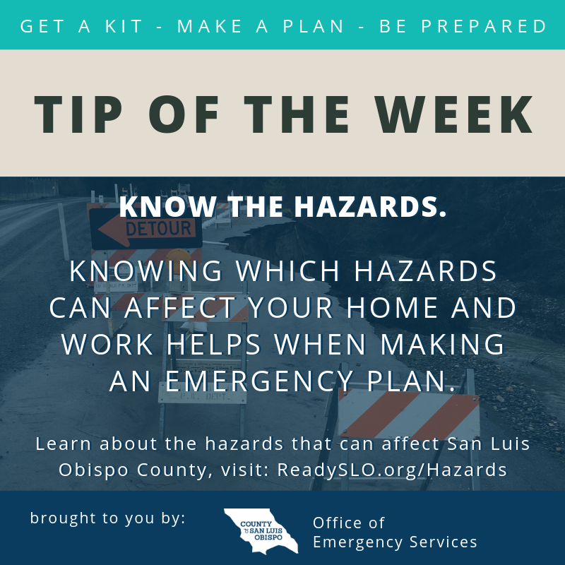Know the Hazards Tip of the Week