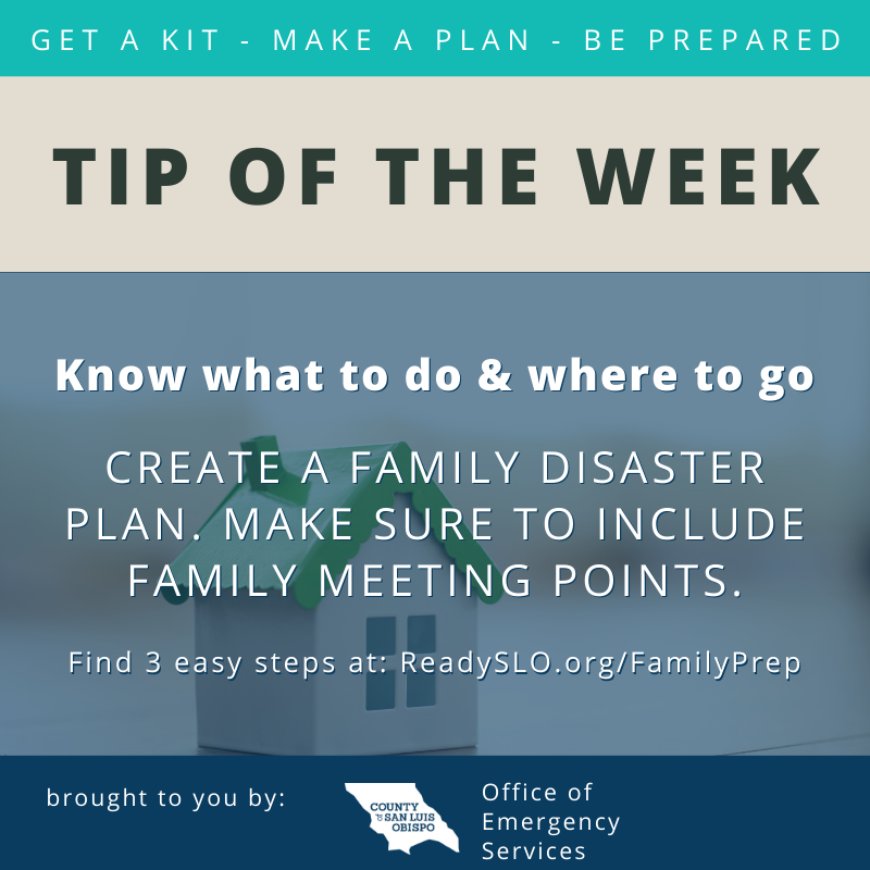 Family Prep Tip of the Week
